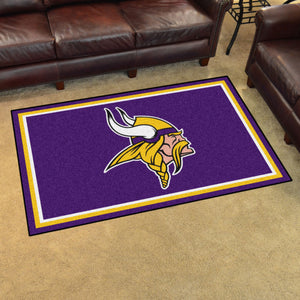 Minnesota Vikings Plush Area Rugs -  4'x6'