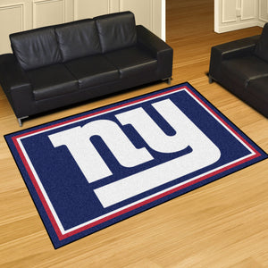 New York Giants Plush Area Rugs -  5'x8'