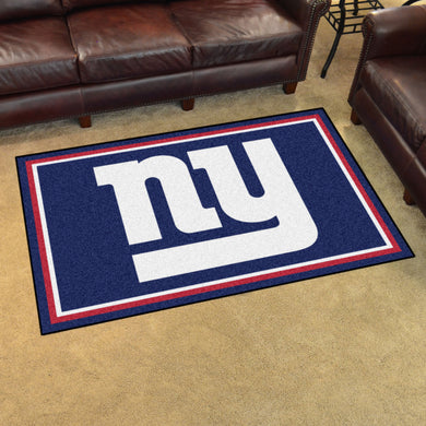 New York Giants Plush Area Rugs -  4'x6'