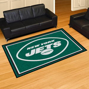 New York Jets Quick Plush Area Rugs -  5'x8'