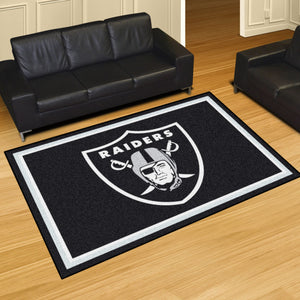 Oakland Raiders Plush Area Rugs -  5'x8'