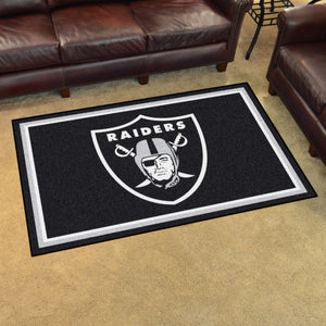 Oakland Raiders Plush Area Rugs -  4'x6'