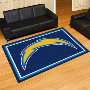Los Angeles Chargers Plush Area Rugs -  5'x8'