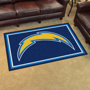 Los Angeles Chargers Plush Area Rugs -  4'x6'