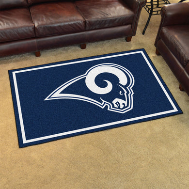 Los Angeles Rams Plush Area Rugs -  4'x6'