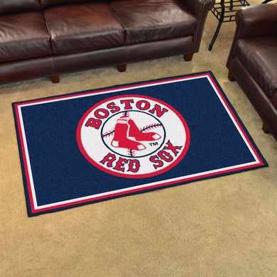 Boston Red Sox Plush Rug - 4'x6'