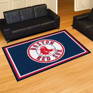 Boston Red Sox Plush  Rug - 5'x8'