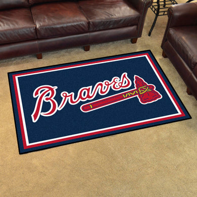 Atlanta Braves Plush Rug - 4'x6'