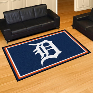 Detroit Tigers Plush Rug - 5'x8'