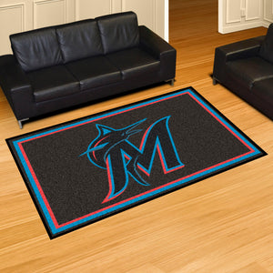 Miami Marlins Plush Rug - 5'x8'