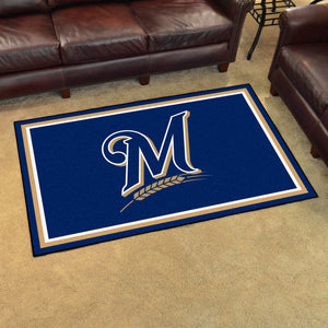 Milwaukee Brewers Plush Rug - 4'x6'