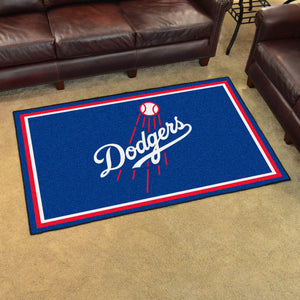 Los Angeles Dodgers Script Plush Rug - 4'x6'
