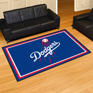 Los Angeles Dodgers Script Plush Rug - 5'x8'
