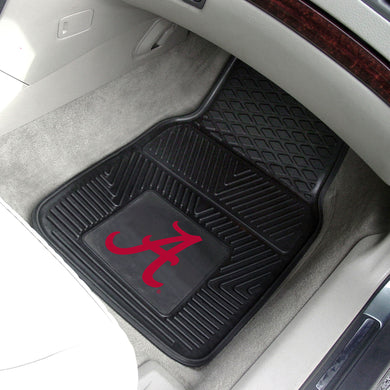 NCAA fan gear Alabama Crimson Tide 2-piece vinyl car mats from Sports Fanz