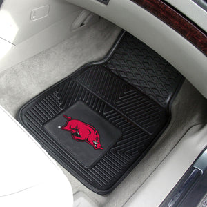 "Arkansas Razorbacks 2 Piece Vinyl Car Mats - 18""x27"""