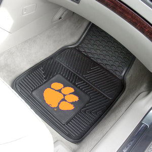 "Clemson Tigers 2 Piece Vinyl Car Mats - 18""x27"""