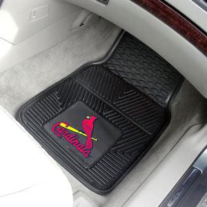 St. Louis Cardinals 2-pc Vinyl Car Mat Set - 18x27