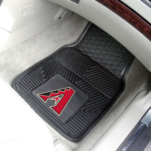 Arizona Diamondbacks 2-pc Vinyl Car Mat Set - 18x27