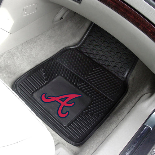 Atlanta Braves 2-pc Vinyl Car Mat Set - 18x27