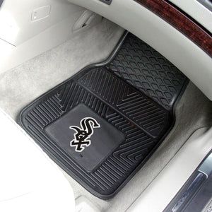 Chicago White Sox 2-pc Vinyl Car Mat Set - 18x27