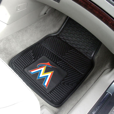 Miami Marlins 2-pc Vinyl Car Mat Set - 18x27