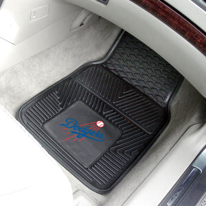 Los Angeles Dodgers 2-pc Vinyl Car Mat Set - 18x27