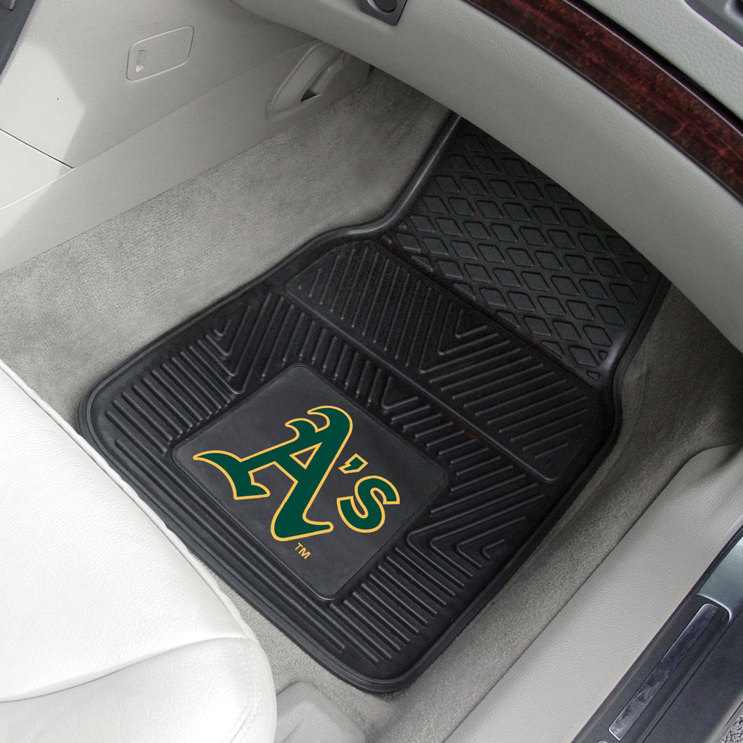 Oakland Athletics 2-pc Vinyl Car Mat Set - 18x27