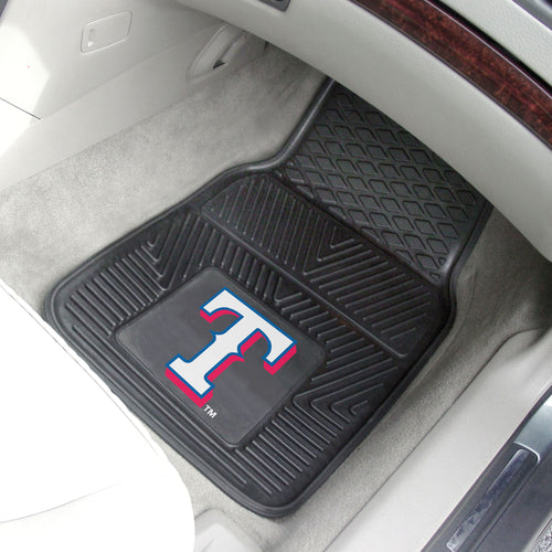 Texas Rangers 2-pc Vinyl Car Mat Set - 18x27