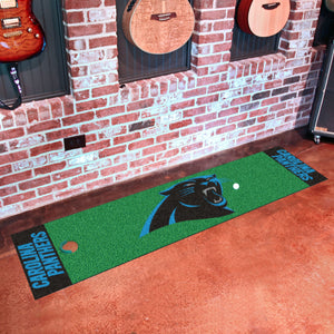 "Carolina Panthers Putting Green Runner 18""x72"""