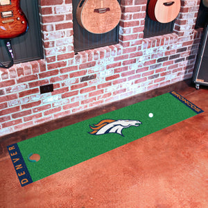 "Denver Broncos Putting Green Runner 18""x72"""