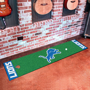 "Detroit Lions Putting Green Runner 18""x72"""