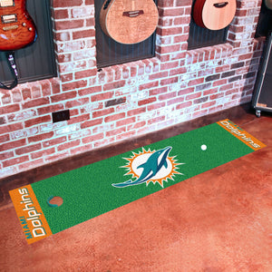 "Miami Dolphins Putting Green Runner 18""x72"""