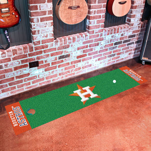 "Houston Astros Putting Green Runner 18""x72"""