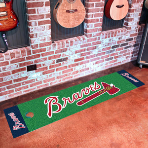 "Atlanta Braves Putting Green Runner 18""x72"""