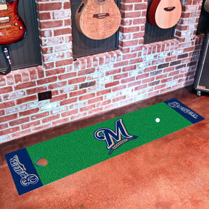 "Milwaukee Brewers Putting Green Runner 18""x72"""