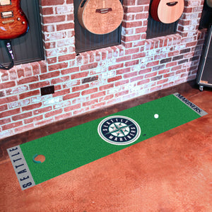 "Seattle Mariners Putting Green Runner 18""x72"""