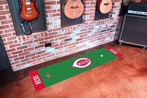 "Cincinnati Reds Putting Green Runner 18""x72"""