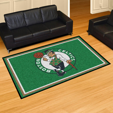 Boston Celtics Plush Rug - 5'x8'