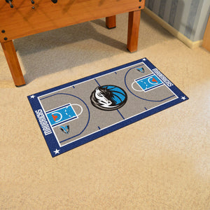 "Dallas Mavericks Large Basketball Court Runner - 29.5""x54"""