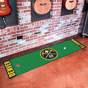 "Denver Nuggets Putting Green Runner 18""x72"""