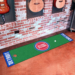 "Detroit Pistons Putting Green Runner 18""x72"""
