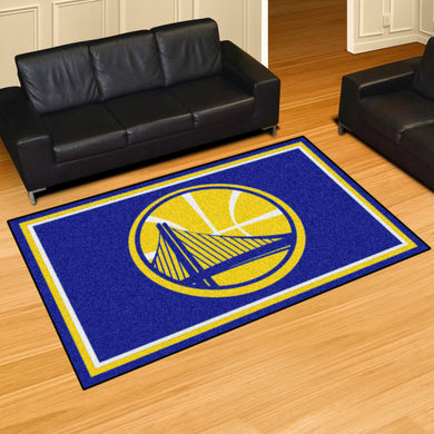 Golden State Warriors Plush Rug - 5'x8'