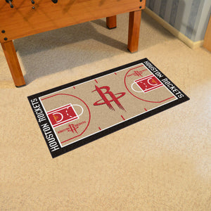 "Houston Rockets Large Basketball Court Runner - 29.5""x54"""