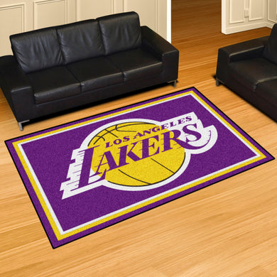 Los Angeles Lakers Plush Rug - 5'x8'