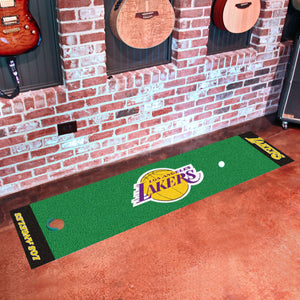 "Los Angeles Lakers Putting Green Runner 18""x72"""