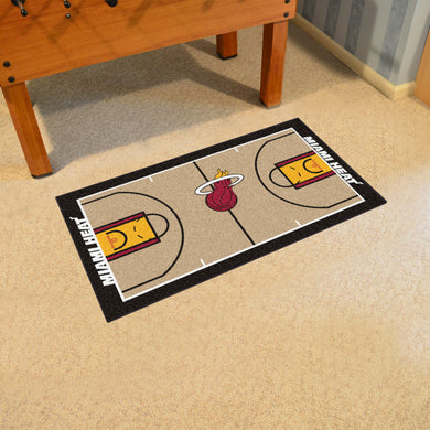 Miami Heat Large Basketball Court Runner - 29.5