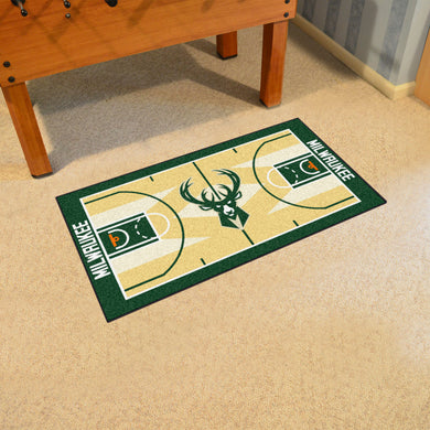 Milwaukee Bucks Large Basketball Court Runner - 29.5