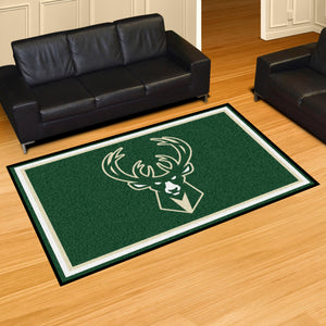 Milwaukee Bucks Plush Rug - 5'x8'