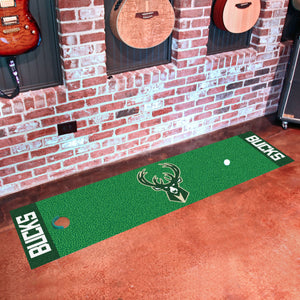 "Milwaukee Bucks Putting Green Runner 18""x72"""
