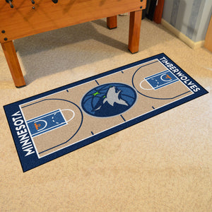 "Minnesota Timberwolves Large Basketball Court Runner - 29.5""x54"""